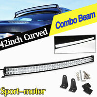 LED Light Bar 42inch Curved Combo Spot Flood Driving Offroad 4WD Truck Boat ATV