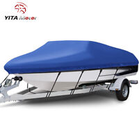 YITAMOTOR 17 19Ft Heavy Duty Boat Cover Trailerable Waterproof Fit V hull Boat