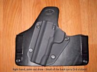 IWB SOB (small of the back) Kydex/Leather Holster with adjustable retention