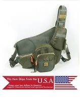 Backpack Fly Fishing Sling Fishing Vest Waist Chest Pack Multi Pockets Deluxe