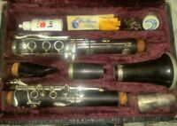 RARE VINTAGE 1940s A. Fontaine Couesnon Clarinet Paris #9591 in case Good- cond