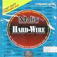 Malin Hardwire Stainless Steel Leader Wire-1/4 Lb Coil - Pick Test-Free Ship