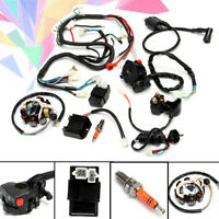Full Electrical Wiring Harness Kit F/ Chinese Dirt Bike ATV QUAD 150-250 300CC