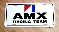 AMX RACING TEAM LICENSE PLATE TAG AMC 1968 1969 1970 1971 1972 1973 1974 javelin