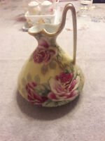 Vintage Nippon Moriage Ewer/Pitcher, circa Early 1900's, Stamped With #52 Mark