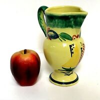 HB Quimper France Yellow Milk Water Pitcher W/ Sail Boat Decoration