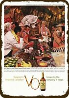 1959 SEAGRAM'S V.O. WHISKY Vintage Look REPLICA METAL SIGN - WAIKIKI BEACH LUAU