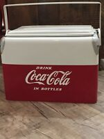 1950#x27;s Vintage Coca Cola Ice Chest Cooler Sandwich Tray Lid Style