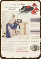 1954 SINGER SEWING CENTER SEWING MACHINES Vintage Look REPLICA METAL SIGN