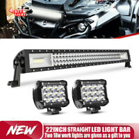 Can Am Outlander 800XT MAX ATV 22inch CURVED LED Light Bar Combo 20