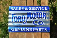Ford Motor Co. Corrugated Aluminium Metal Sign - Genuine Parts Sales