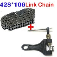 428 106 Links Drive Chain ATV Quad MX Motorcycle Dirt Pit Bike + Chain Breaker