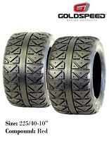 New - Goldspeed Flat Track ATV Rear Tires - Red Compound - (x2) 225/40-10