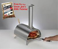 Wood Fired Pizza Oven Cooking Kit, Reaches 900 Degrees! WPPO w/ 5 lb Hickory