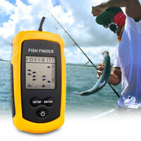 Portable LCD Fish Finder Wired Fishing Sonar Alarm Echo Sounder Transducer
