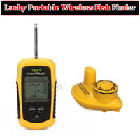 Lucky Portable 100m Wireless Fischfinder Alarm 40M/130FT Sonar Tiefe Ocean Neu