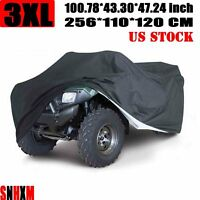 XXXL Black ATV Quad Bike Cover For Suzuki KingQuad Quadmaster QuadSport Eiger