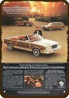 1983 CHRYSLER LEBARON TOWN & COUNTRY CONVERTIBLE Car Vintage Look METAL SIGN