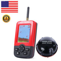 100M Portable Smart Fish Finder with Wireless Sonar Sensor LCD Display For US