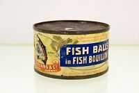 Vintage Fish Balls Bouillon Chr. Bjelland Stavanger Norway Tin Can Collectible
