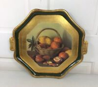 VIETRI Victorian Fruit Platter Tray Hand Painted Made in Italy