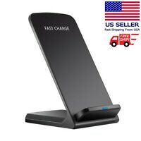 Qi Wireless Fast Charger Charging Pad Stand Dock Samsung Galaxy S9 iPhone XS 8 $9.87