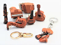 Keyring Leather 3D TOOLS MUSIC Pendant leather Man Woman handmade
