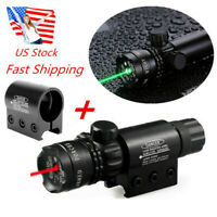US For Rifle Red/Green Dot Laser Sight Lights Scope Rail +Remote Tail Switch