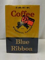 Blue Ribbon Coffee Box Vintage Brook Bond Canada Limited Rare Collectible Empty