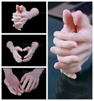 Pose-able Pare Silicone Male Mannequin Hands - Display Model Prop - Large