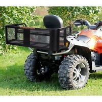 ATV UTV Universal Steel Cargo Hunting Rear Drop Basket Rack Loadable Hardware US