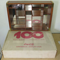 Coca-Cola 100 Year Centennial Celebration Wooden Display Case 18.5x13x3.75