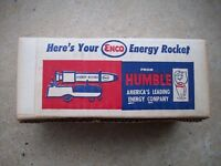 VINTAGE HUMBLE ENCO ENERGY ROCKET TOY GAS/OIL NOS
