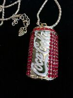 Betsey johnson Red Crystal Coca Cola necklace