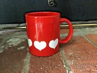 Waechtersbach Mug Red With Hearts Germany Excellent Condition