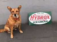 Ask For Hydrox Ice Cream Porcelain Sign