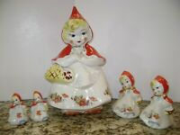 Vintage Hull / Regal China Little Red Riding Hood Cookie Jar w/ Lg