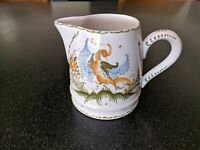 LONGCHAMP FRANCE  MOUSTIERS BIRD COFFEE CREAMER Vintage FAIENCE FRENCH POTTERY