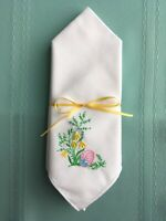 Embroidered Easter Napkins