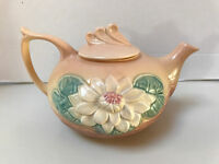 Vintage Hull Art Pottery 6 Cups TEA POT water lily flower L-18-6 Made in USA