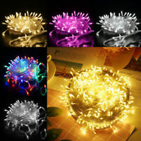 10-200M LED Plug In String Fairy Lights Garden Christmas Tree Outdoor Warm White