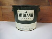 MIDLAND 10 LB GREASE CAN OIL LUBRICANT original CO OP  SERVICE STATION unopened