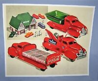 Coca Cola Pressed Steel Lincoln Toy Trucks Display Print  &  Photo.