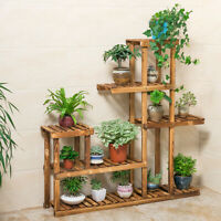 Modern Wood Plant Stand Planter Rack Flower Pots Sturdy Holder Display US Stock