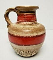 CARSTENS TONNIESHOF KERAMIK 7638-20 Fat Lava Vase Pitcher West Germany Pottery