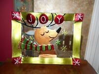 Pfaltzgraff Holiday Happenings Reindeer Christmas Platter Plate Serving Tray NIB