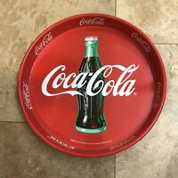 Vintage Coca Cola Circular Tray Red Large Antique Advertising