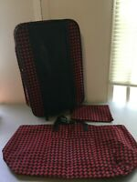 3 piece rolling luggage suitcase set red black 19x13 inches lightweight travel