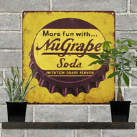 Nugrape Cap Vintage Look Advertising Metal Reproduction Sign 12x12 60101