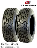 New - Goldspeed Flat Track ATV Front Tires - Wet Race Compound - (x2) 165/70-10